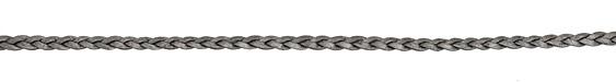 Grey (metallic) Flat Braided Leather Cord 5mm
