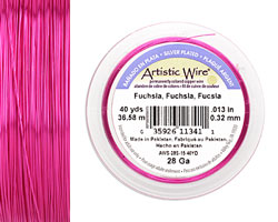 Artistic Wire Silver Plated Fuchisa 28 gauge, 40 yards