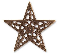 Vintaj Natural Brass Star Trellis 45mm