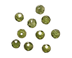 Fern Faceted Round 4mm