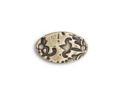 TierraCast Antique Brass (plated) Flora Oval Connector Link 19x12mm