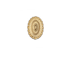 Zola Elements Matte Gold (plated) Southwest Concho Style 7mm Flat Cord Slide 10x15mm