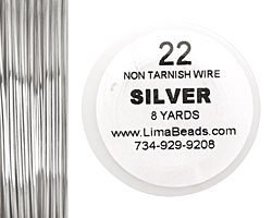 Parawire Non-Tarnish Silver 22 gauge, 8 yards