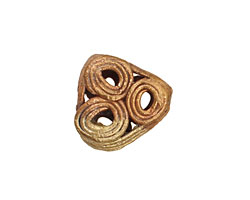 African Brass Triangle w/ Circles 16-18x18-20mm