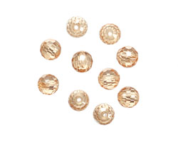 Champagne Faceted Round 6mm