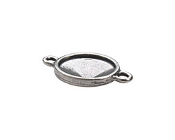 TierraCast Antique Pewter (plated) Faceted Link 25x17mm
