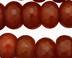 Carnelian Faceted Rondelle 18mm