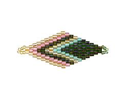 Ethereal Bliss Hand Woven Diamond 43x18mm