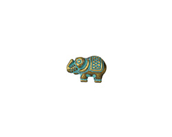 Zola Elements Patina Green Brass Lucky Elephant 12x8mm