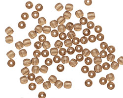 Czech Glass Smoky Topaz Round 3mm