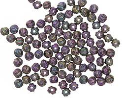 Czech Glass Iris Purple Melon Round 3mm