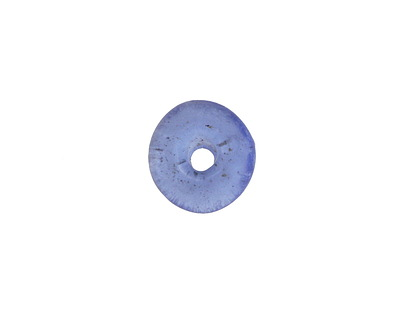 African Recycled Glass Sapphire Mini Donut 12mm