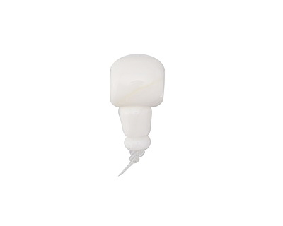 White Conch Shell Barrel Guru Bead 11-12mm