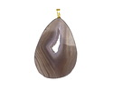 Natural Agate Freeform Slice Pendant w/ Bail 33-39x45-56mm