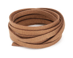 Bronze Metallic Microsuede Flat Cord 7mm