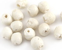 African Recycled Glass Bisque Tumbled Round 8-10mm