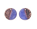 Gaea Copper Twilight Enamel Coin Focal Pair 16mm