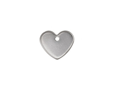 Stainless Steel Heart Charm 13x11mm
