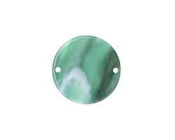 Zola Elements Emerald Marbled Acetate Coin Link 20mm