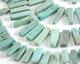 Brazil Amazonite Graduated Slice Drop 6-11x16-32mm