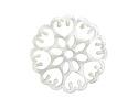 Zola Elements Pearl Acetate Floral Openwork Mandala Focal 40mm