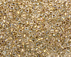TOHO Crystal (with Gold Lining) Round 8/0 Seed Bead