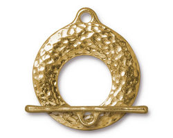 TierraCast Gold (plated) Artisan Toggle Clasp 30x27mm, 30mm Bar