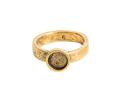 Nunn Design Antique Gold (plated) Hammered Itsy Circle Ring Size 6