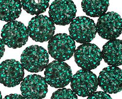 Emerald Pave (w/ Preciosa Crystals) Round 10mm