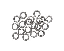 Antique Silver (plated) Soldered Jump Ring 4mm, 18 gauge