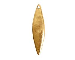 Nunn Design Antique Gold (plated) Primitive Elongated Diamond Pendant 10x41mm