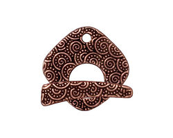 TierraCast Antique Copper (plated) Large Spiral Toggle Clasp 23x22mm, 24mm