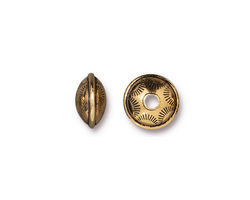 TierraCast Antique Gold (plated) Western Bead 6x10mm