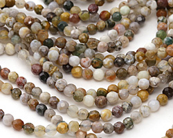 Ocean Jasper Faceted Round 4mm