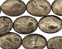 Golden Pyrite (silver tone) Flat Oval 16x12mm