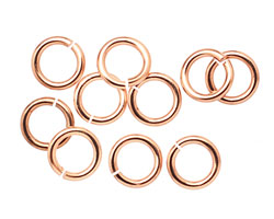 Rose Gold (plated) Jump Ring 9mm, 14 gauge