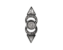 Zola Elements Antique Silver (plated) Pointed Bezel Concho 12x35.5mm