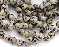 Dalmatian Jasper Faceted Round 8mm