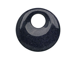 Blue Goldstone Off Center Donut 45mm