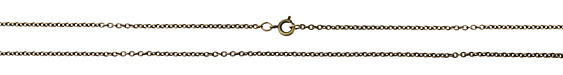 Antique Brass (plated) Finished Small Cable Chain 18""