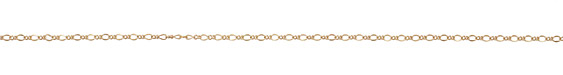 Satin Hamilton Gold (plated) Figaro Chain 2mm
