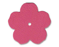 "TierraCast Fuchsia Leather 1.25"" Flower 32mm"