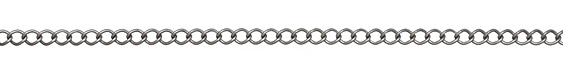 Antique Silver (plated) Curb Link Chain