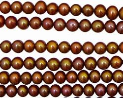 Rusty Pink Semi-Round 4.5-5mm