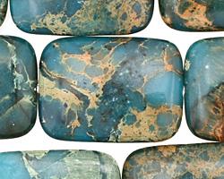 Turquoise Impression Jasper Thin Pillow 30x22mm