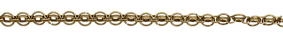 Antique Brass (plated) Oval Cable Chain w/ Ring