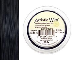 Artistic Wire Dark Blue 28 gauge, 40 yards