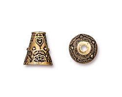 TierraCast Antique Gold (plated) Flowering Cone 11x12mm