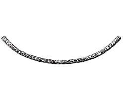 Zola Elements Antique Silver (plated) Pebbled Arc Glue In Focal 105x32mm