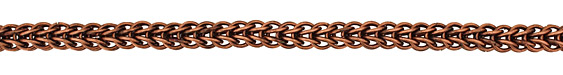 Antique Copper (plated) Interlocking Ring Chain